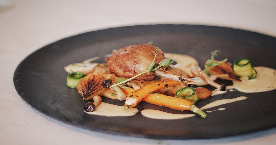 Duck leg, wild mushroom, roast shallot