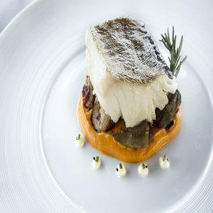 Cod, squash, rosemary