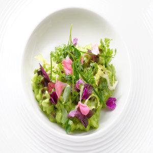 Spinach & wild garlic risotto