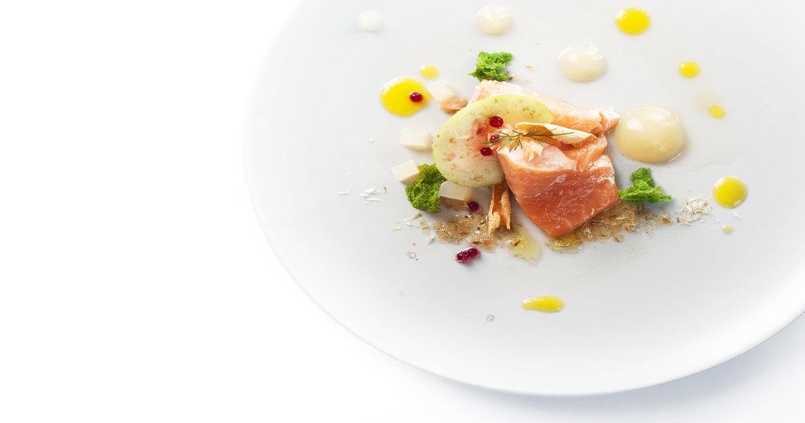 Salmon, celeriac and apple